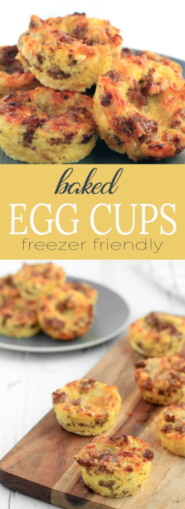Freezer-Friendly Baked Egg Cups require 8 ingredients and 30 minutes time. A flavorful, healthy breakfast with whole grain bread, homemade healthy turkey sausage and melty Vermont cheddar cheese.