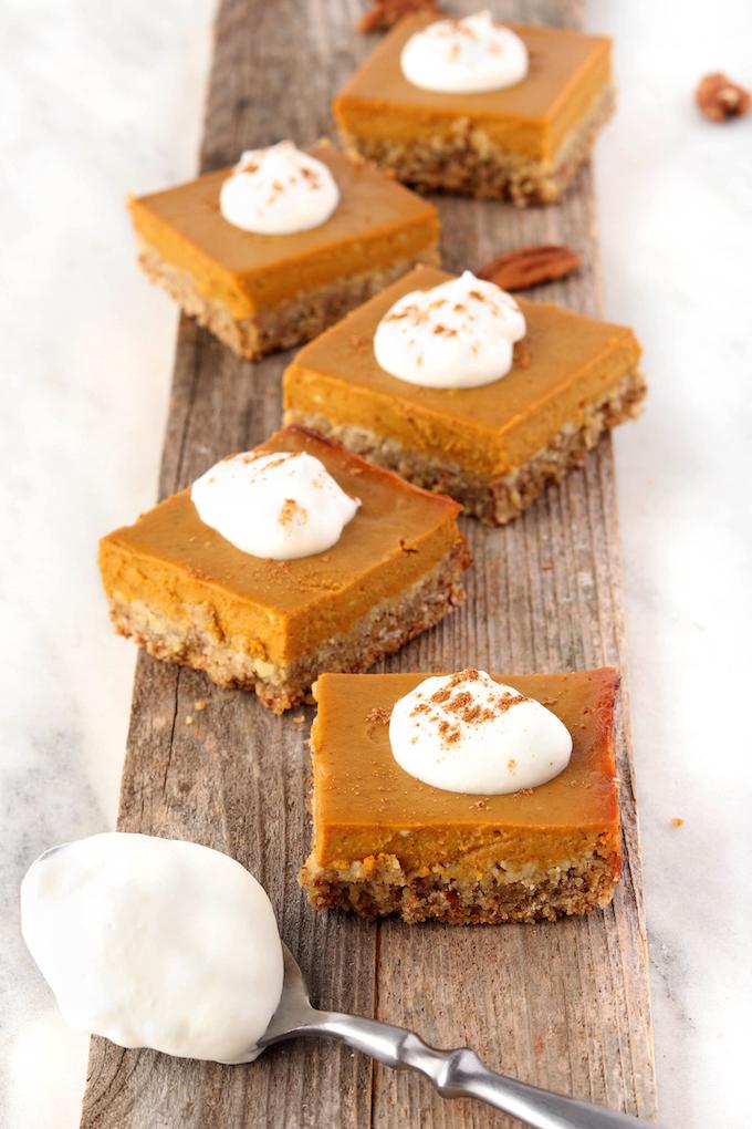 Hearty Pumpkin Pie Bars