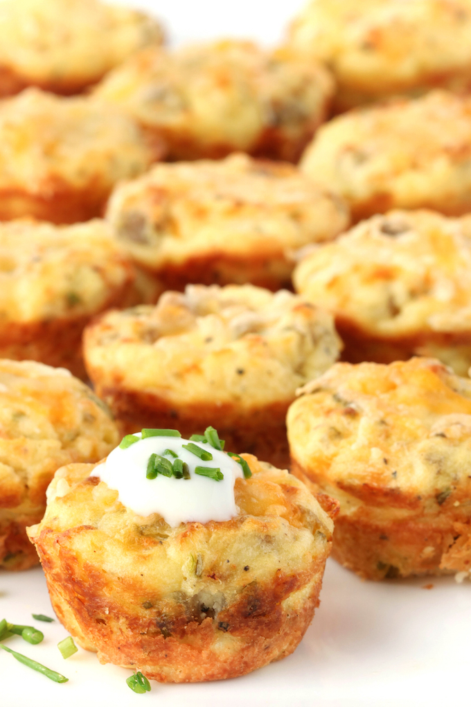 Left over mashed potatoes? Make these crispy, creamy, cheesy leftover mashed potato puffs for a quick grab n' go breakfast option.