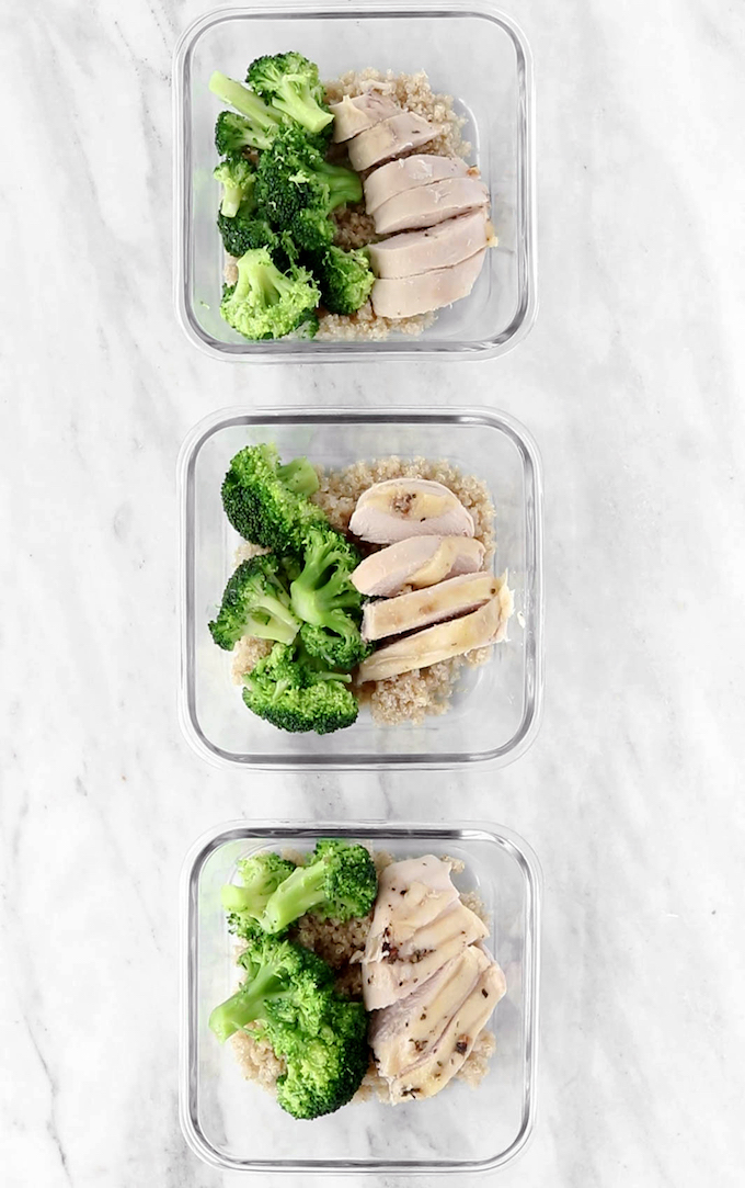 Herbed Roast Chicken is simple to make, requiring 8 ingredients and 10 minutes prep. Tender, delicious and perfect for meal prepping.