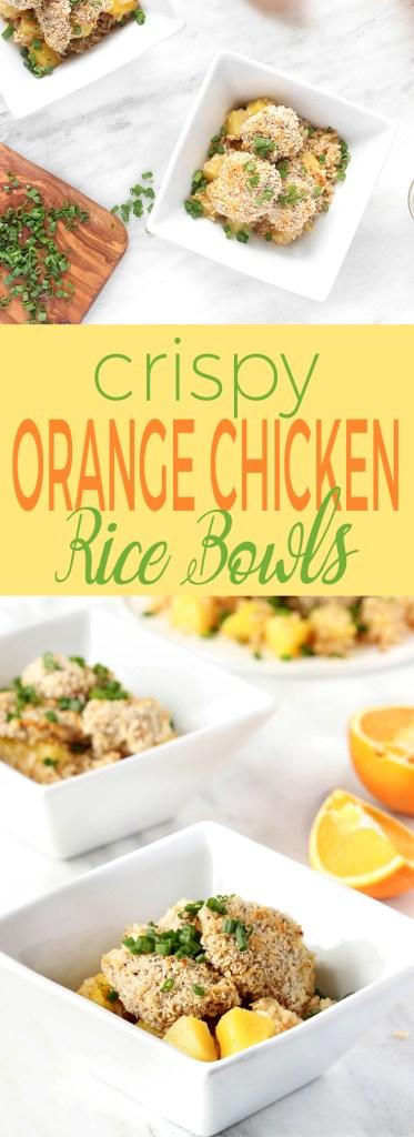 Crispy Orange Chicken Rice Bowls
