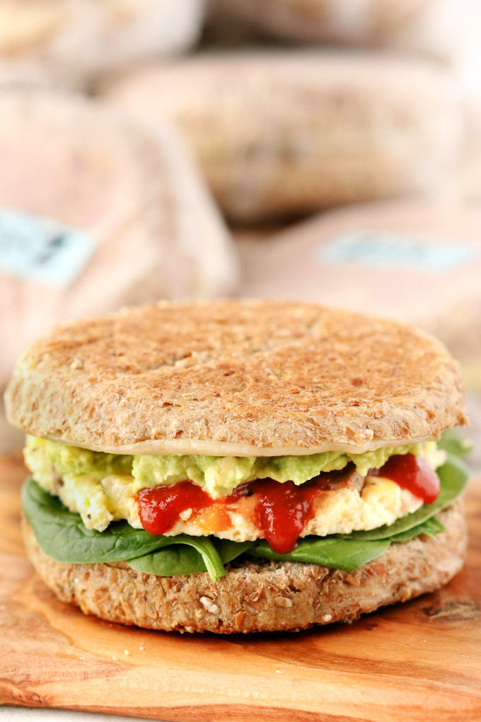 How To Batch Prep Breakfast Sandwiches for the entire week (or even month) so that you have a healthy grab-n' go breakfast option.