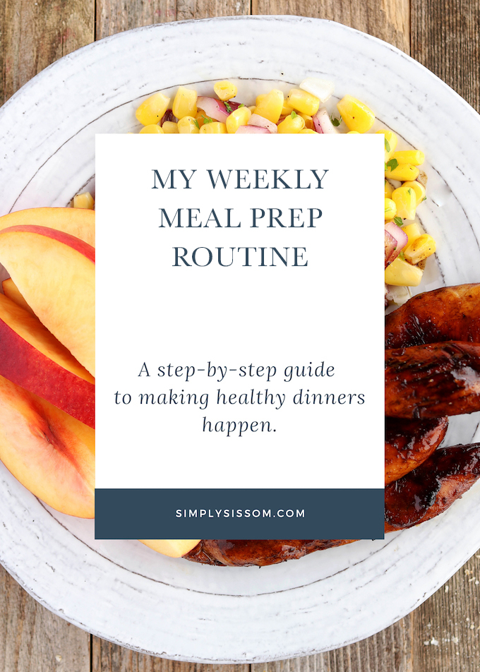 My Weekly Meal Prep Routine: A step-by-step guide to making healthy dinners happen.