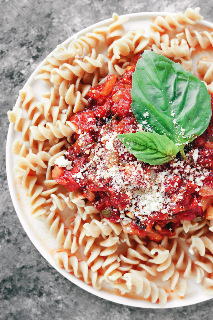 Freezer-Friendly Thick n' Chunky Marinara Sauce. This basic recipe will become your new favorite addition to any Italian meal (and it can be made ahead).