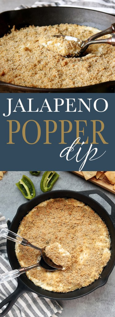 Easy, 8-ingredient cheesy Lightened Up Jalapeño Popper Dip with just the right amount of spice. The perfect 5-minute throw together dip for any get together.