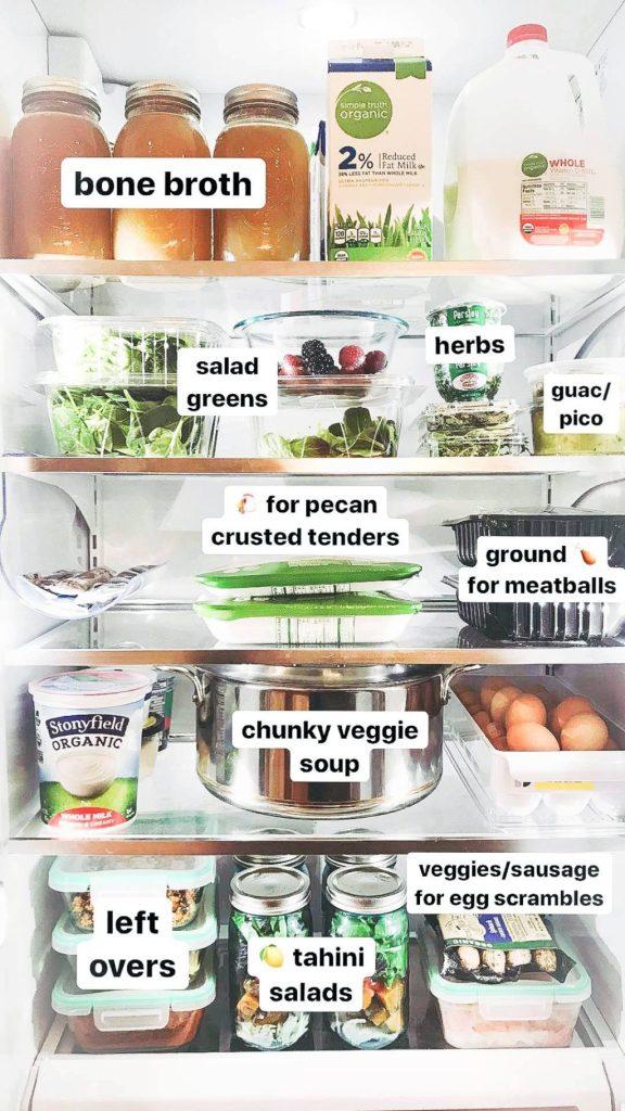 Slow Cooker Chicken Bone Broth in refrigerator.