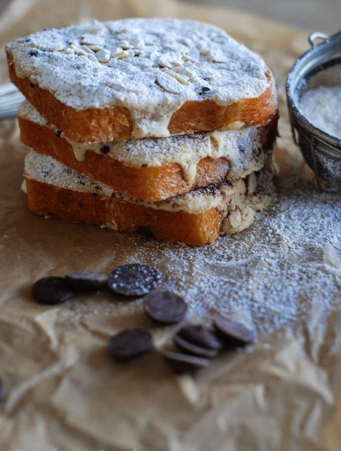 Twice Baked Chocolate Almond Brioche