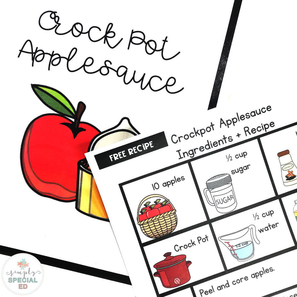 Free Visual Recipe Crockpot Applesauce