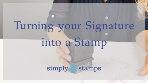 Making a signature stamp
