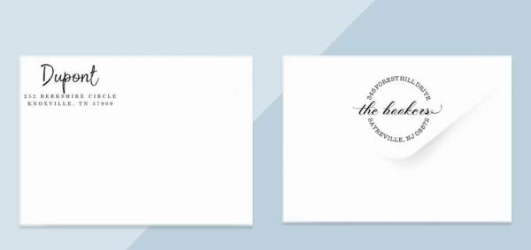 example return address stamps