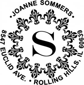 Fancy Round Monogram Stamp