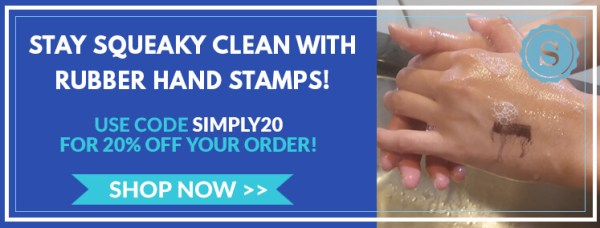 Save 20% off on handwashing stamps with code SIMPLY20