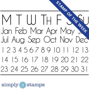 perpetual calendar craft stamp