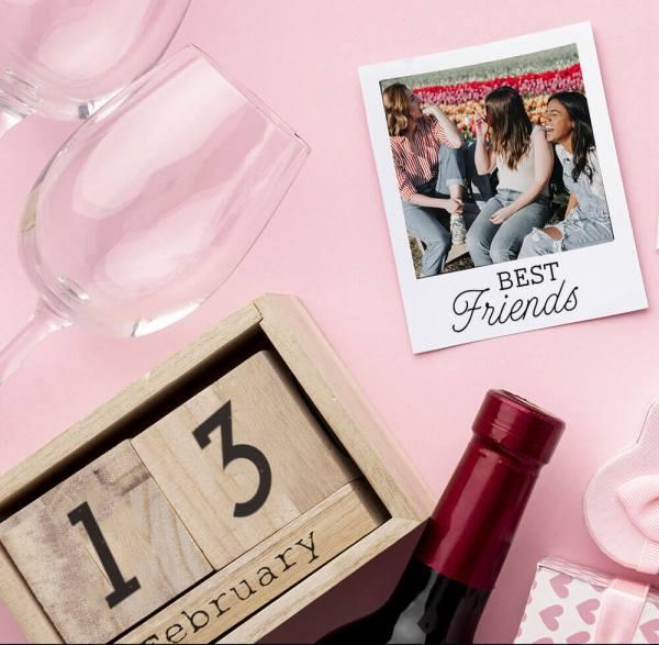 best friends stamp on photo keepsake