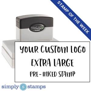 your custom pre-inked logo stamp extra large