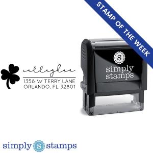custom shamrock address stamp simply stamps