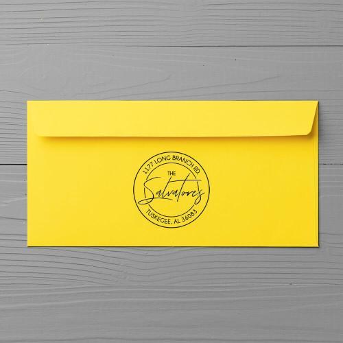 return address stamp on envelope