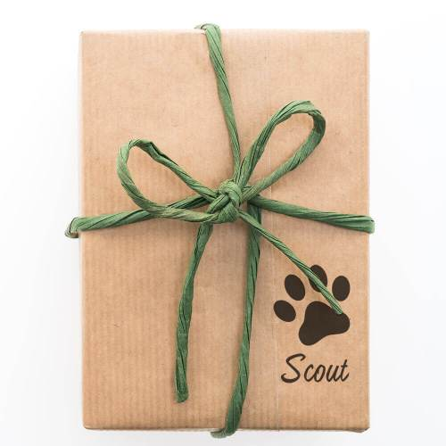 paw print signature stamped on gift
