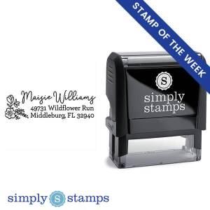 custom flower address stamp simply stamps