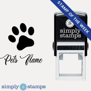 custom pet name signature paw print stamp stamp of the week