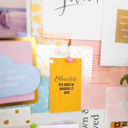 kordek bold address stamp impression