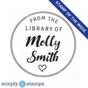 from the library of custom heart book stamp