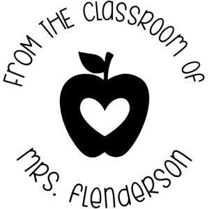 from the classroom of teacher stamp