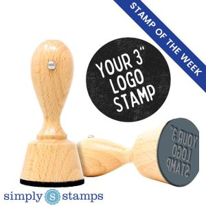 "stamp of the week: 3"" logo stamp"