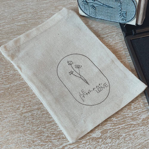 custom stamped logo bag