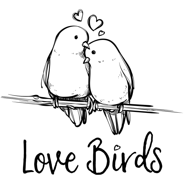 Love Birds Craft Stamp Simply Stamps