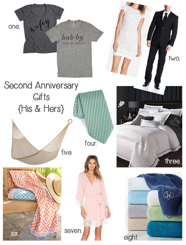 Second Anniversary Gifts