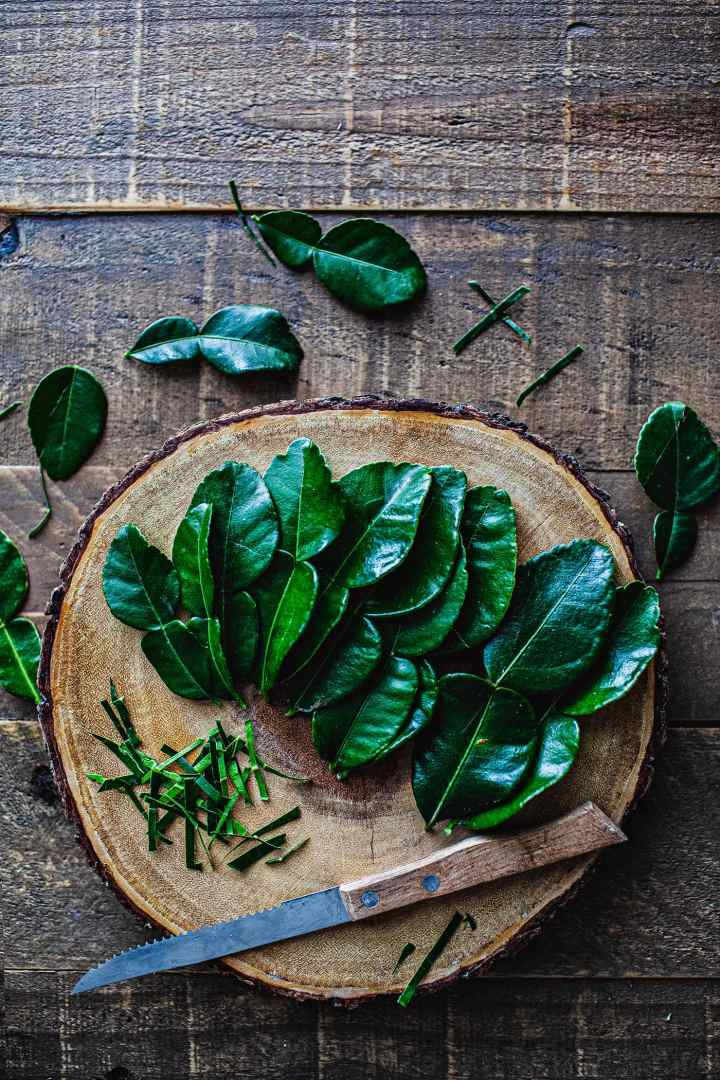Markrut or Kaffir lime leaves