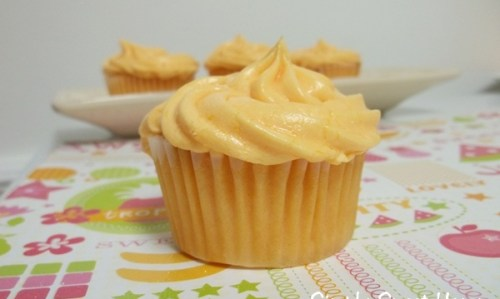 Orange Buttercream Cupcakes