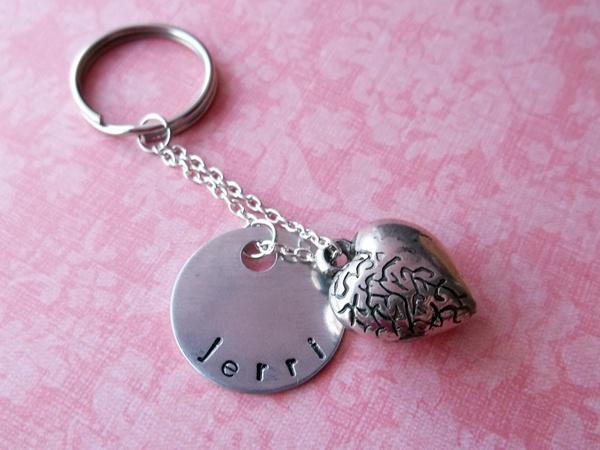 Name Heart Keychain