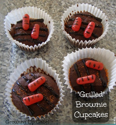 Grilled-Brownie-Cupcakes