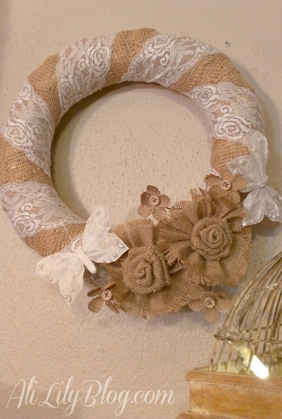 Burlap and Lace Wreath