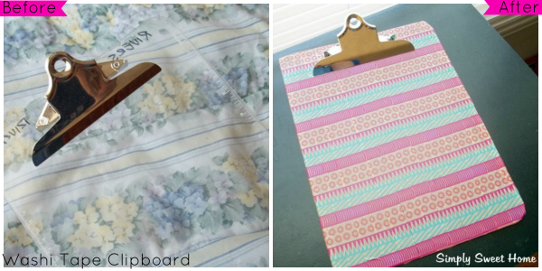 Washi Tape Clipboard Tutorial