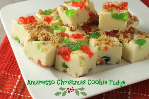 Amaretto Christmas Cookie Fudge