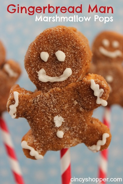 Gingerbread Man Marshmallow Pops