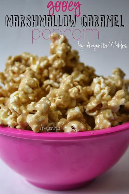 Gooey Marshmallow Caramel Popcorn