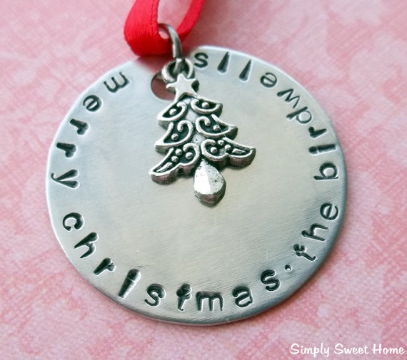 Hand Stamped Ornament