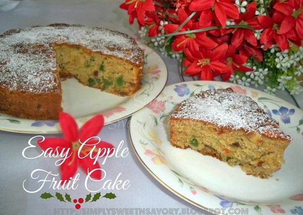 Easy Apple Fruit Cake 3