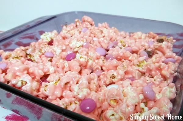 White Chocolate Marshmallow Popcorn Treats