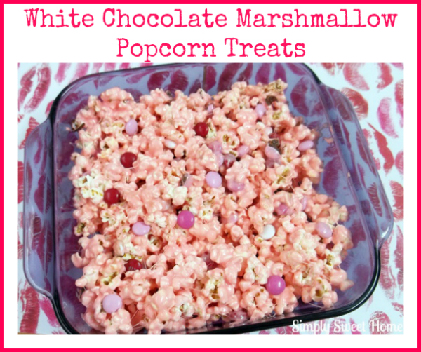 White Chocolate Marshmallow Popcorn Treats
