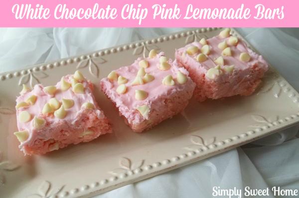 White Chocolate Chip Pink Lemonade Bars