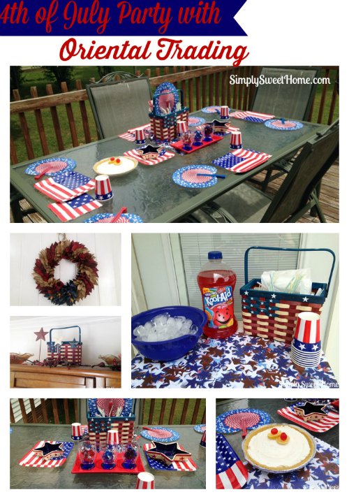 4th of July Party with Oriental Trading
