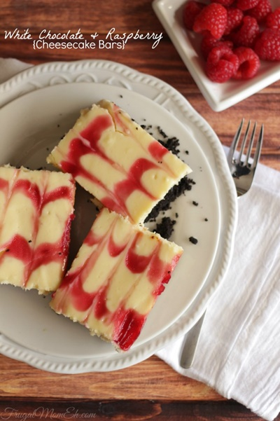 White Chocolate Raspberry Cheesecake Bars