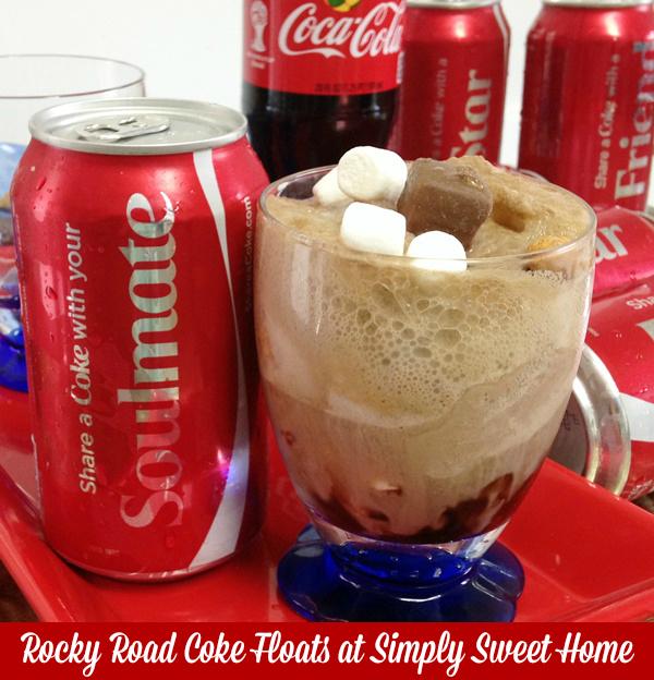 Rocky Road Coke Floats