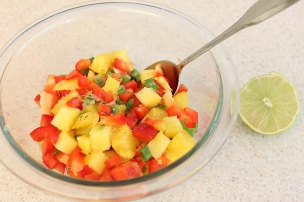 sweet n sour pineapple salsa