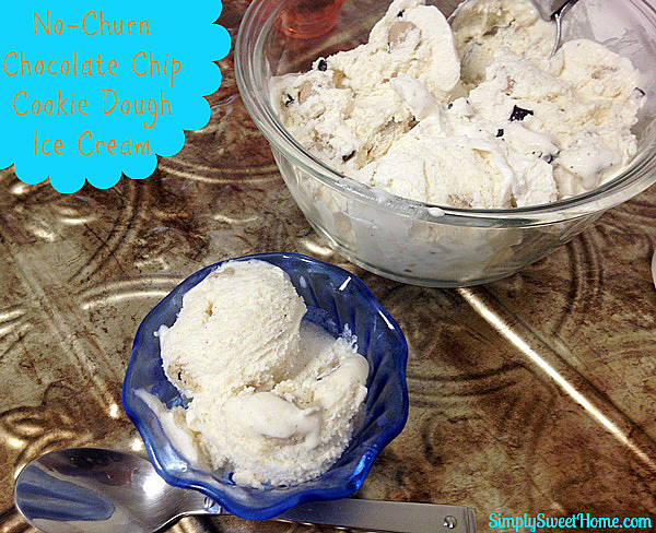 No-Churn Chocolate Chip Cookie Dough Ice Cream